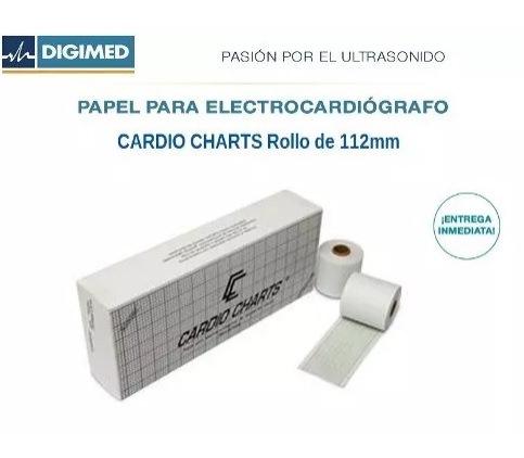Papel Termosensible Para Ecg 112mm Caja X4 Rollos