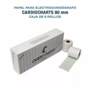 Papel Termosensible Para Ecg 80mm Caja X6 Rollos