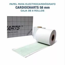 Papel Termosensible Para Ecg 58mm Caja X8 Rollos