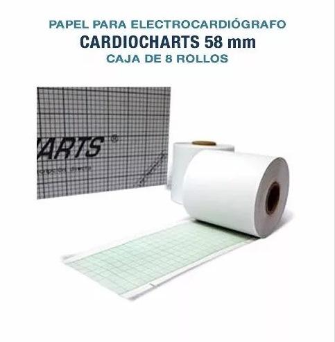 Papel Termosensible Para Ecg 58mm Caja X8 Rollos