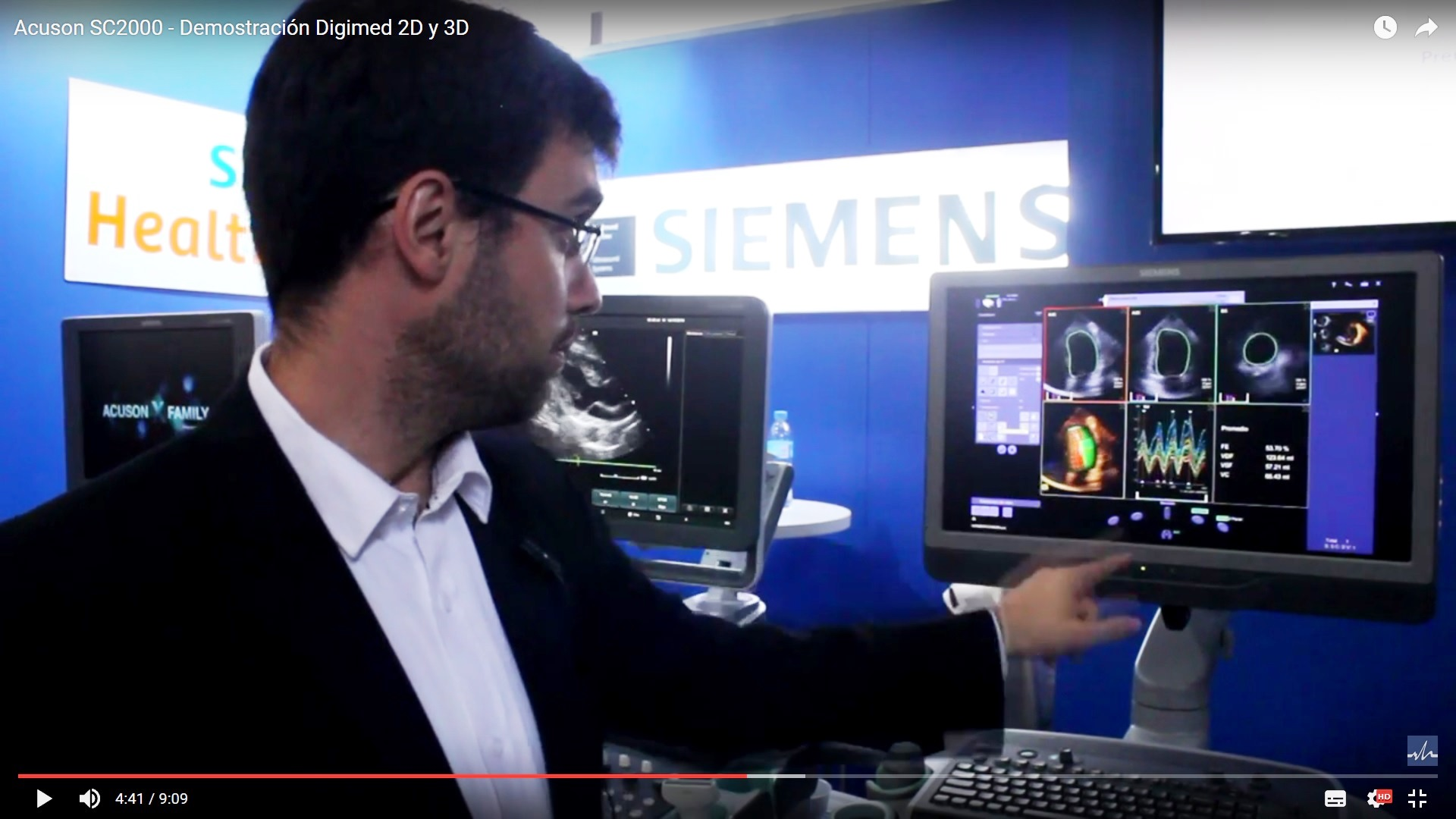 Acuson SC2000 – Demostración Digimed 2D y 3D