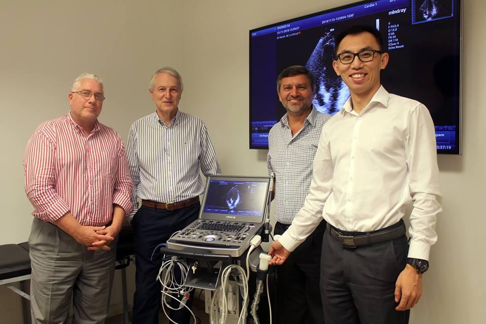 El Dr. Sergio Lanos visitó Digimed y conoció  su nuevo Mindray M9.