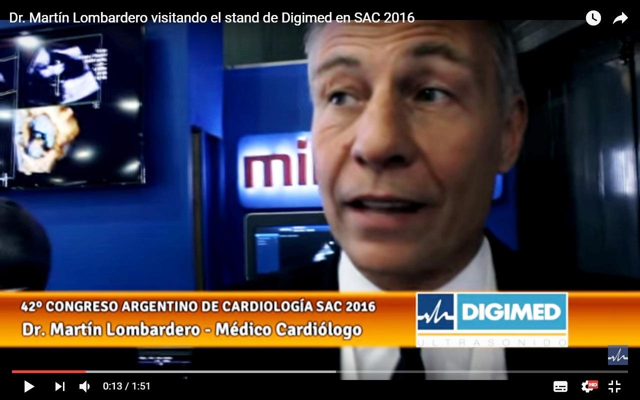 Dr. Martín Lombardero visitando el stand de Digimed en SAC 2016