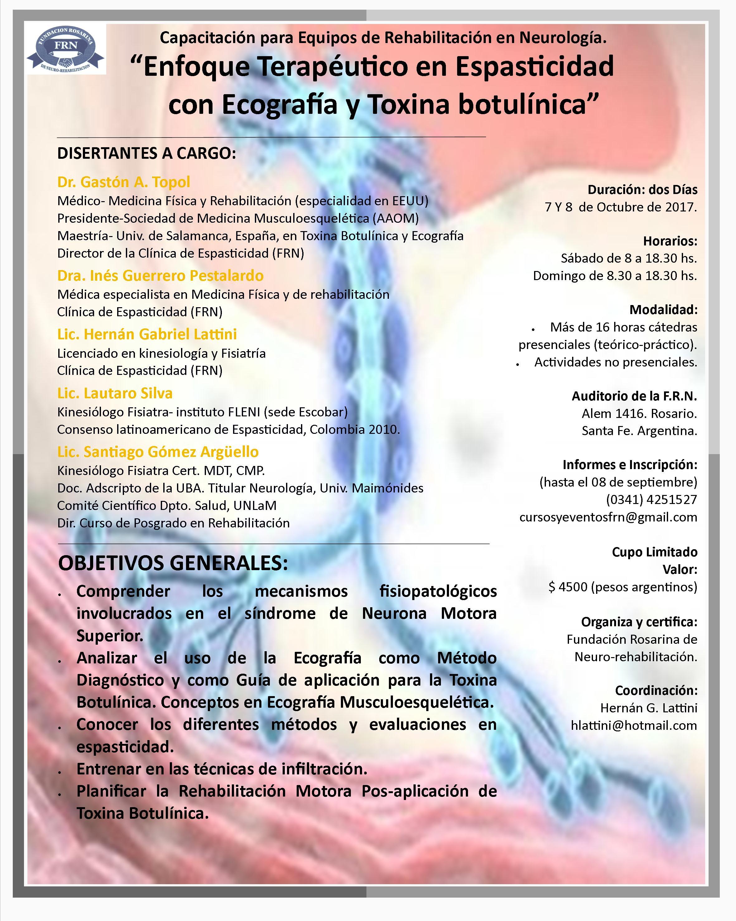 Enfoque Terapéutico en Espasticidad con Ecografía y Toxina Botulínica