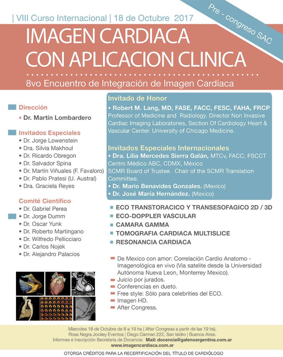 VIII Curso Internacional de imagen Cardíaca Pre Congreso SAC 2017