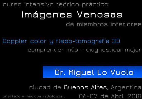 6 y 7 de Abril – Curso Intensivo Teórico-Práctico de Imágenes Venosas de Miembros Inferiores – Digimed – Buenos Aires
