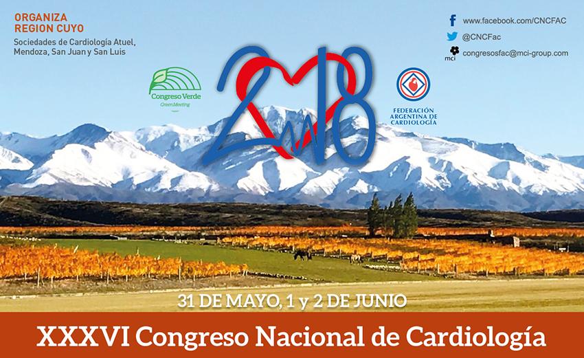 31 de Mayo al 2 de Junio – XXXVI Congreso Nacional de Cardiología (FAC) – Hotel Intercontinental – Mendoza