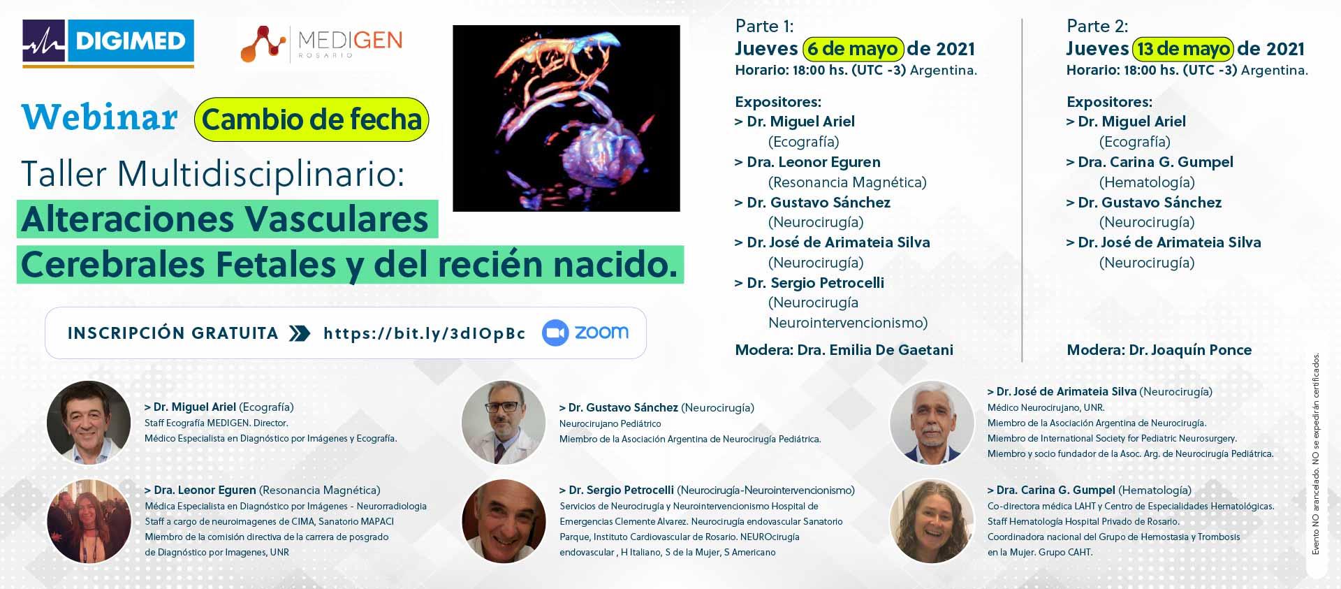 Webinar: Taller Multidisciplinario - Alteraciones Vasculares Cerebrales Fetales y del Recién Nacido.